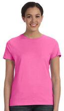 Hanes Women's Classic Fit Ribbed Collar Short Sleeve Crewneck T-Shirt. SL04
