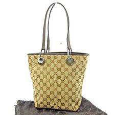 72057368e66 Gucci Tote bag GG Brown Beige Woman Authentic Used T3712