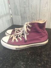 Converse Purple Chuck Taylor All Stars High Top Trainers Sz6/39