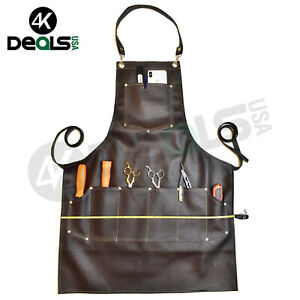 Professional PU Leather Luxury Hairdressing Apron Cape Barber Salon Hairstylist
