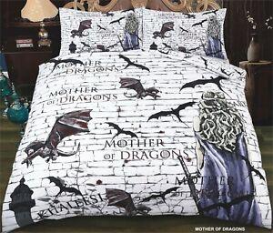 Christmas Gift Game of Thrones Theme Design Mother of Dragon 3D Duvet Cover set