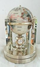 Kalifano Executive Mother of Pearl Gemstone Globe with 3 clocks and Thermometer