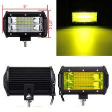 "2Pcs 5"" 72W LED Car Work Driving Fog Light Bar Amber Flood Spot Beam Waterproof"