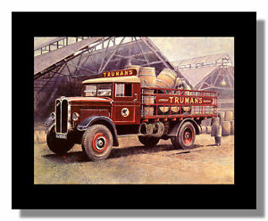 AEC Majestic Trumans beer lorry 1930 loading at brewery framed picture Nixon