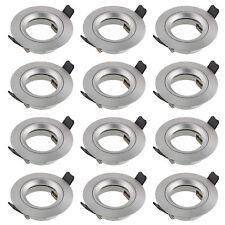 Einbauleuchten LED Halogen, 12x Einbaustrahler silber, Einbauleuchte SEBSON GU10