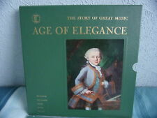 """TIME LIFE RECORDS - THE STORY OF GREAT MUSIC """"AGE OF ELEGANCE"""" 5 LP BOX SET Used"""