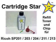 Refill Toner + Reset Chip f. Ricoh SP201 SP203 SP204 SP211 SP213 für 2600 Seiten