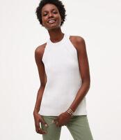 NWT Ann Taylor Loft White Sweater Top. XL