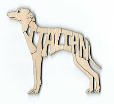 Italian Greyhound Dog laser cut wood Magnet