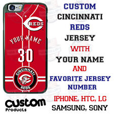 Cincinnati Reds Personalize Baseball Jersey Phone Case Cover for iPhone LG etc.