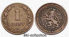 1 Cent 1880 Netherlands. Pays-Bas. Bronze. Qualité!