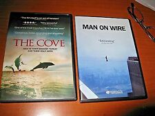 2 Docs 1.The Cove 2009 Documentary OOP DVD 2. Man On Wire 2008 OOP DVD &