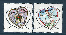 TIMBRES 3632-3633 NEUF XX LUXE - COEURS DE CHANEL - SAINT VALENTIN. K. LAGERFELD