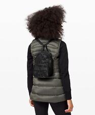 NWT Lululemon Now And Always Convertible Mini Backpack Crossbody Bag Black Camo