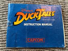 Nintendo Nes Manual Only :- Disney Duck Tales
