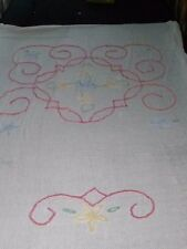 Vtg Chenille Penneys Floral Bedspread Full 93x98 White Pink Yellow Blue Cutter