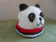 Panda Bear Cap Kids Knit Hat with Ears Size 6-12 months New by San Diego Hat