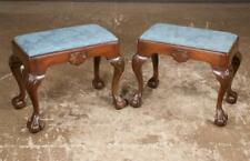 Pair of Chippendale style mahogany stools with shell carved aprons an. Lot 263