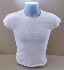 PETER ANDRE Insania UK pink cap sleeve promo ladies t-shirt NEW/UNWORN Medium