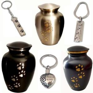 Memorial Pet Human Urn Cremation Dog or Cat Paw Engravable