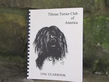 TIBETAN TERRIER CLUB OF AMERICA 1996 YEARBOOK WITH ARTWORK BY GARY CARR