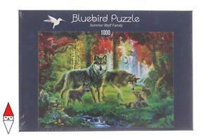PUZZLE ANIMALI BLUEBIRD LUPI SUMMER WOLF FAMILY 1000 PZ