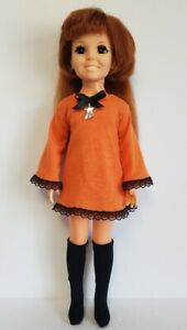 CRISSY DOLL CLOTHES HALLOWEEN orange DRESS and black BOOTS Fashion NO DOLL d4e