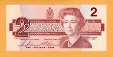 Canada Replacement Banknote UNC 2 Dollar Bonin Thiessen prefix EBX P-94c* 1986