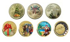 2011-2017 Seasons Greetings Merry Christmas 7 Different $1 UNC Coins Carded