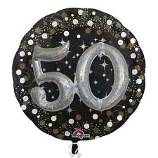 "Amscan 32"" Sparkling 50 Original Foil 3d Multi-balloon Birthday Anniversary"