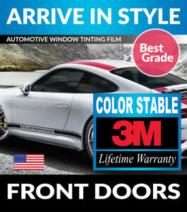 PRECUT FRONT DOORS TINT W/ 3M COLOR STABLE FOR CHEVY 1500 CREW 07-13
