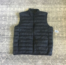 Old Navy Mens L Puffer Vest Black Full Zip Pockets NWT A2