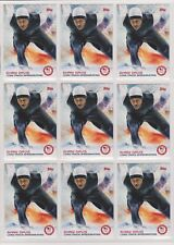(9) 2014 TOPPS OLYMPIC SHANI DAVIS CARD #22 LOT ~ SPEEDSKATING