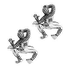 SPIDERMAN CUFFLINKS Comic Super Hero Full Body Climbing Silver Tone w GIFT BAG