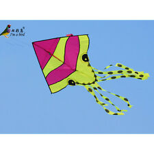 NEW Colorful Small Red Octopus Children's Kite Good Flying outdoor toy 63-Inch
