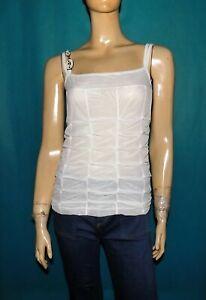 haut a bretelles LEGATTE en polyamide blanc taille 3 ou 40 FR