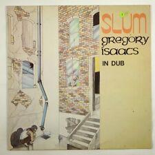 "Gregory Isaacs ""Slum In Dub"" Reggae LP Burning Sounds UK"