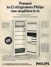 PUBLICITE ADVERTISING  1969   PHILIPS   réfrigérateur