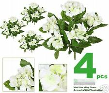 "4 16"" Hydrangea Artificial Flowers Silk Plants Wedding"