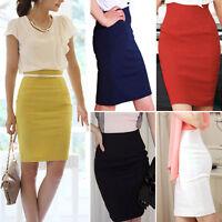 New A132 Women Fitted Business Knee Long Slimming High Waist Office Pencil Skirt
