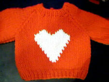 Valentine's Day Heart Sweater Handmade for 18 inch Build A Bear Made in USA