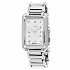 Fendi Men's Classico Rectangle Stainless Steel Swiss Quartz Watch F701016000
