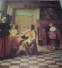 """""""AN INTERIOR"""" Pieter de Hooch Hoogh Hooghe Color Print Dutch Golden Age Artist"""