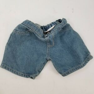 """Blue Jean Shorts Teddy Bear Clothes Fit 14"""" - 18"""" Build-a-bear & Make Your Own"""