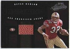 KEVAN BARLOW 2004 Absolute Memorabilia Leather & Laces Football Relic Card /250