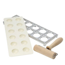 Swift Ravioli Making Set Frame Indent Tray Roller Pasta Italian Kitchen Gadget