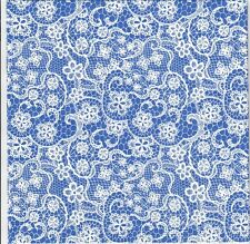 4 Single paper decoupage napkins. Background,blue,lace, indigo  design - 421