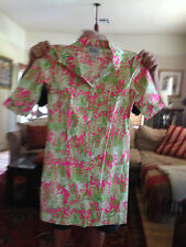 LILLY PULITZER  Cotton Shirt Dress Size 4 Colorful and Fun