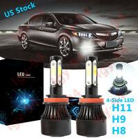 For Honda Accord Civic 2006-2018 LED Fog light COB Conversion Kit Ice Blue 8000K