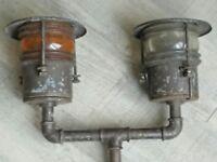 lampe industrielle ancienne de bateau/péniche années 30's ship lamp nautique.